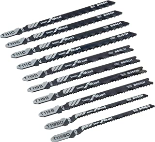 Bosch Professional 2607010629 Sticksågblad för Trä, Svart, 10 Stycken