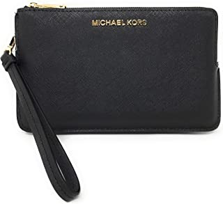 8c1c2bb30bb7 Michael Kors Jet Set Travel Extra Large Double Gusset Top Zip Saffiano Leather  Wristlet