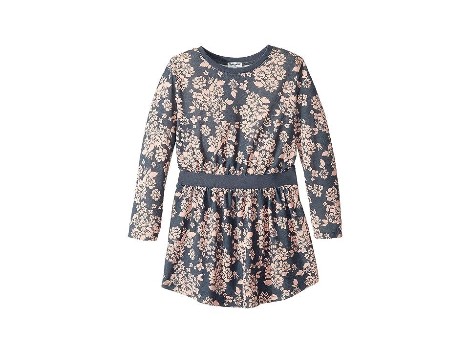 Splendid Littles Floral Dress (Little Kids) (Ombre Blue) Girl