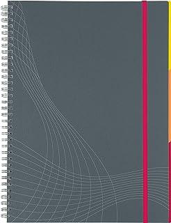 Avery 7017 - Cuaderno para apuntes A4, gris hojas cuadriculada