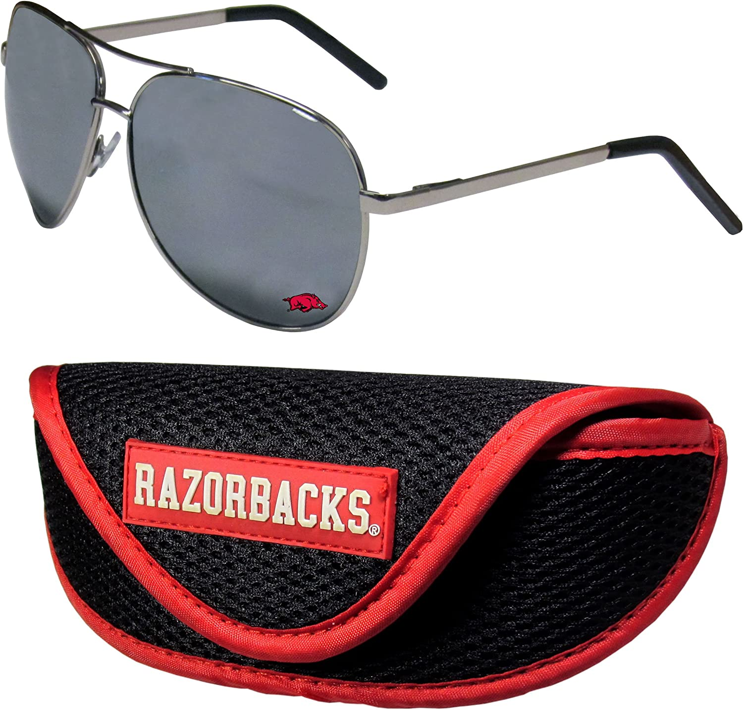 NCAA Unisex Aviator Sunglasses Sports Case