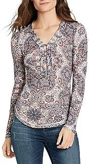 William Rast Women's Woodland North Henley Top Shirt