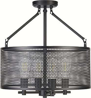Gianna Chandelier Hanging Light Black Pendant Light With Led Bulbs Ll Cl806 5blk Amazon Com