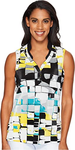 Digi Box Print Sleeveless Top