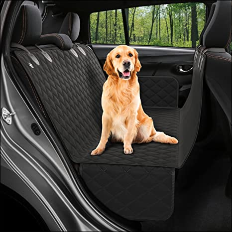 Dog Back Seat Cover Protector Waterproof Scratchproof Nonslip Hammock for Dogs Backseat Protection Against Dirt and Pet Fur Durable Pets Seat Covers for Cars & SUVs: image