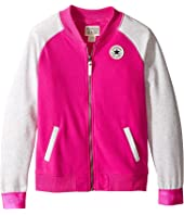 Converse Kids - Raglan Varsity Jacket (Big Kids)
