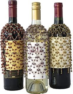 beaded wine bottle skirts