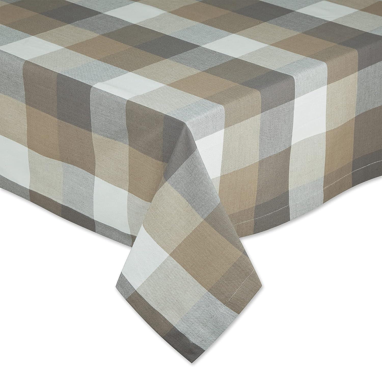 Ranking TOP18 DII Tri-Color Check Collection Cotton Tabletop 100% Tablecloth Miami Mall