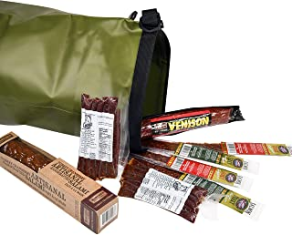 Carnivore Club Wild Game Sampler Set - Includes 8 Delicious Wild Game Meat Snacks - Comes Packed in a Hiking Dry Bag - Sum...