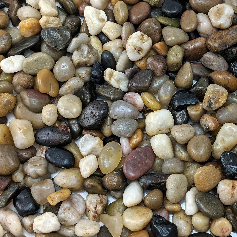 Natural Decorative Polished Mixed Pebbles 3 8 Gravel Size 10 Lb Bag Garden Outdoor