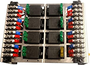 MGI SpeedWare Relay Panel Box and Wiring Block Kit with 12 Volt DC Automotive Relay Switches and LED Blade Fuses (8 Relay)