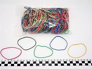 Progom - Gomas Elasticas - 80(ø50)mm x 1.7mm - colores mezclados (rojo,blanco,natural,verde,azul,negro) - bolsa de 200 piezas