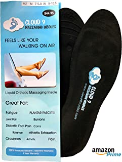Cloud9 Dynamic Liquid Massaging Orthotic Insoles | Best Shoe Inserts | Arch Support & Foot Pain Relief | Premium Glycerin Filled Insert | Absorbs Shock (L2 - Men 9.5-10.5 | Women Size 9.5-11)