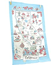 Moda California Souvenir State Map Dish Towel