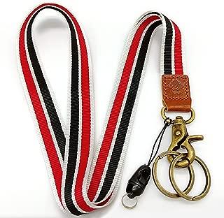 Happy Monkey Neck Lanyard Key Chain Holder/ID Badges Holder/Mobile Phone etc(red Black)