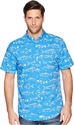 Fish Outlines Short Sleeve Classic Murry Shirt