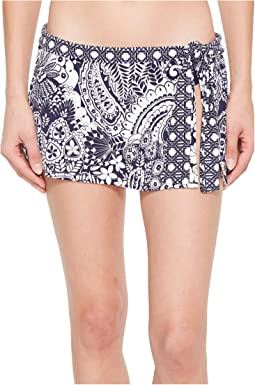 Tommy Bahama - Paisley Paradise Skirted Hipster Bikini Bottom