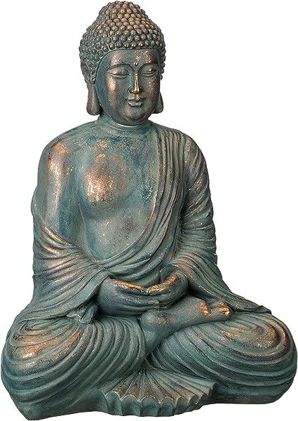 Regal Art Gift Patina Buddha Statue 16 Copper Patina