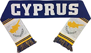 World Cup Soccer Cyprus International Soccer Team Scarves, One Size, Blue