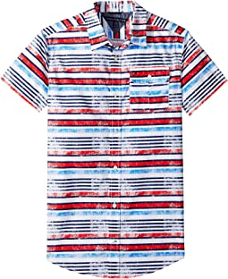 Tommy Hilfiger Kids - Short Sleeve Printed Shirt (Big Kids)
