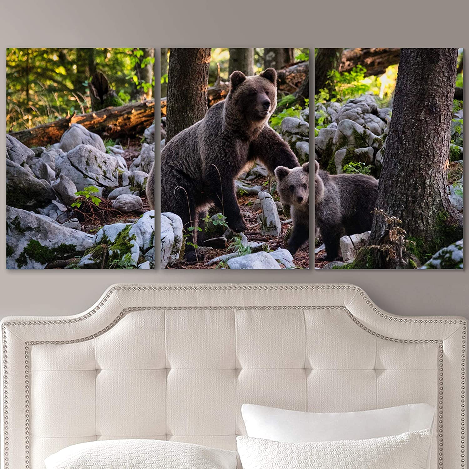 SIGNLEADER Bear in The Wild Wall Art for Direct store H Canvas Prints Animals Max 74% OFF