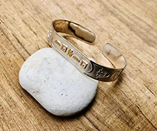 Egypt Custom Name Sterling Silver Wide Personalized Cartouche Cuff Bangle Bracelet - Made By AYALZ - Up to (9 Characters)