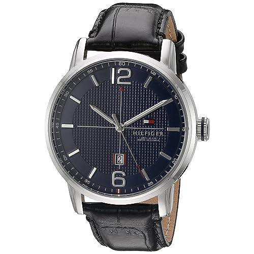 Tommy Hilfiger Mens 1791216 George Analog Display Japanese Quartz Black Watch