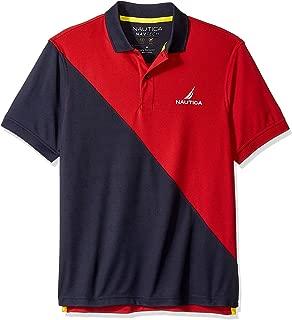 Nautica Men's Short Sleeve Performance Knit Polo Stripe Series Shirt