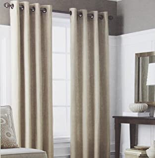 Wamsutta Grommet Window Panel from the Classic Linen Collection in a Coffee Color 50 Inches Wide x 84 Inches in Length