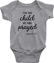 Aprojes for This Child We Have Prayed Baby Bodysuit – Christian Baby Clothes