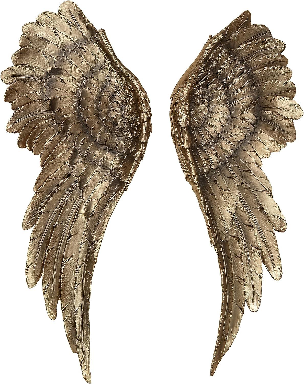 Decorative Ranking TOP5 Grand Angel Wings 2 Indefinitely Piece Vintage Style Antiqu Set