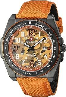 Men's 50505 37N OR Commando Analog Display Swiss Quartz Orange Watch