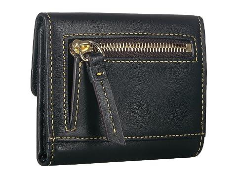Dooney crédito de amp; Bourke amp; Billetera negro Emerson de solapa tarjeta borde pequeña con negro rrqfa