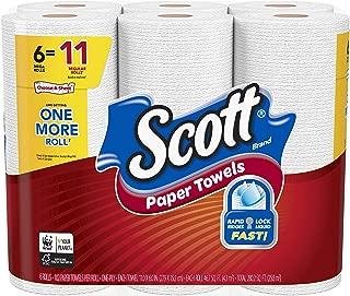 Scott Paper Towels, Choose-A-Sheet, 6 Mega Rolls = 11 Regular Rolls