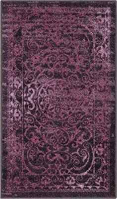 Amazon Com Maples Rugs Pelham Vintage Kitchen Rugs Non Skid Accent Area Carpet Made In Usa 2 6 X 3 10 Wineberry Red Furniture Decor