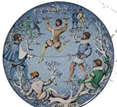Haviland Limoges Twelve Days of Christmas - Ten Lords a Leaping Collector Plate by Artist Rémy Hétreau