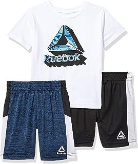 Reebok - Conjunto de Playera Deportiva y pantalón Corto para niño