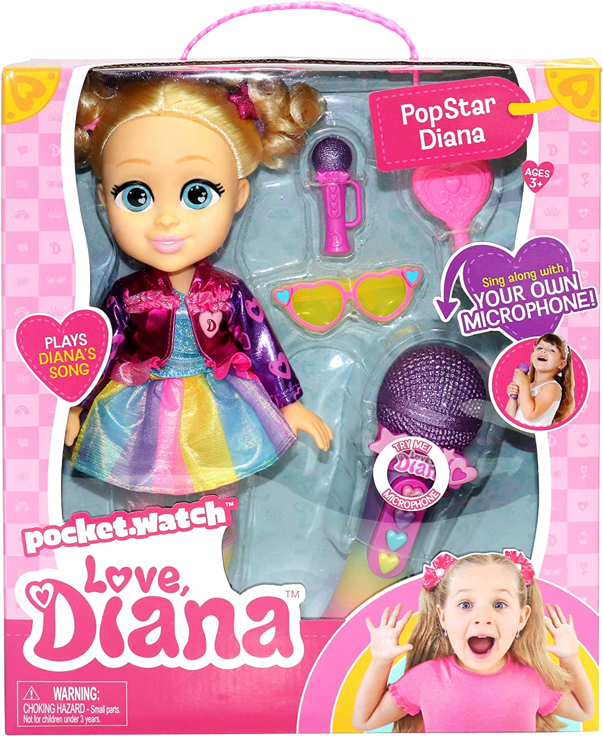 """Love Diana Sing Along Popstar Max 79% OFF trend rank and Microph Doll 13"""" Working"""