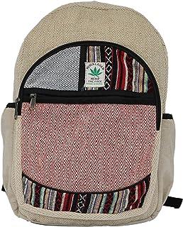 Mochila de Fibra de cáñamo/Mochila de cáñamo/Mochila de día de cáñamo/Mochila para la Escuela, Viajes, Ocio, Exterior, Deporte – con Compartimiento para Laptop - Modelo 88.2