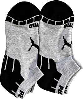 Puma - Boys' P112049-031 Low-Cut Cushioned 6-Pack Socks, Black/Grey 9-11