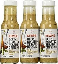 Kewpie Japanese Dressing Roasted Sesame 8 Oz. Deep Roasted Sesame Dressing, Creamy (Pack of 3)