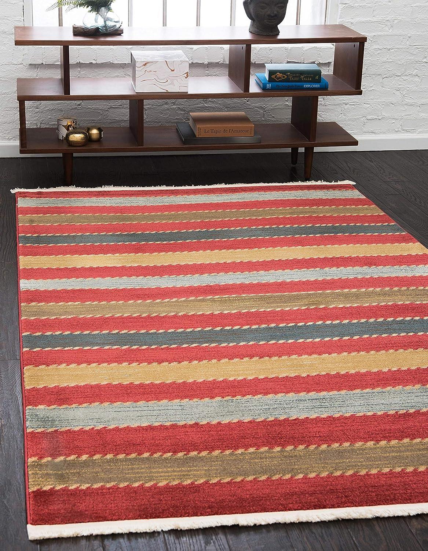 Unique Loom Fars Collection Las Vegas Mall Max 64% OFF Tribal Multi Modern Area Casual Rug