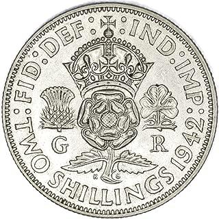 Shilling Bin A FREE SHIP Scottish Crest 1947 GREAT BRITAIN SHILLING