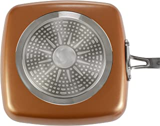Copper Cook 9.5in Non-Stick Frying Square Skillet Pan