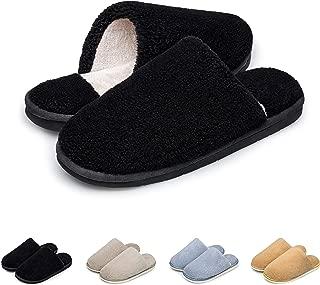 Womens Mens Slippers Memory Foam Comfort Cozy Warm Plush Fleece Lined Slip on Anti-Slip Winter House Shoes Indoor Outdoor