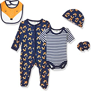 Lilly and Jack Baby Boys BOYS 5PCE MULTIPACK- MR. FOX Baby Clothes