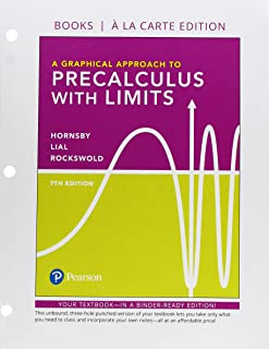 Graphical Approach to Precalculus with Limits, A, Books a la Carte Edition
