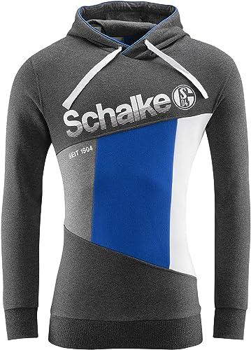 FC Schalke 04 EV Sweat-Shirt à Capuche en Diagonale XXL