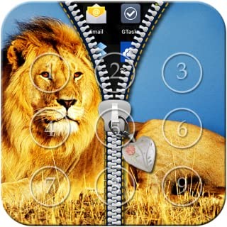 Lion Zipper Lock Screen