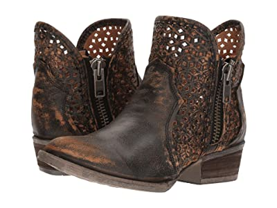 Corral Boots Q5021 (Black/Yellow) Cowboy Boots